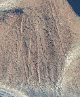 hombre búho Líneas Nazca