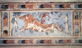 Fresco de la taurocatapsia palacio cnosos