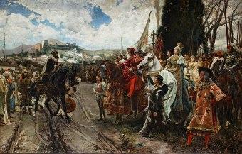 La rendicion de Granada x Francisco Pradilla y ortiz