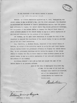 800px-President_Woodrow_Wilson's_Mother's_Day_Proclamation_of_May_9,_1914_(Presidential_Proclamation_1268)__-_NARA_-_299965