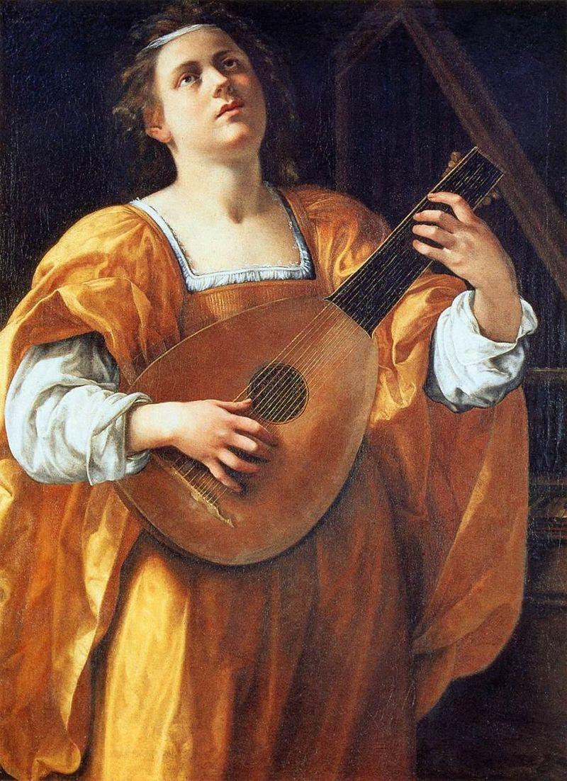Santa Cecilia tocando el laúd (c.1616), óleo sobre tela de Artemisa Gentileschi. Se conserva en la Galería Spada (Roma).